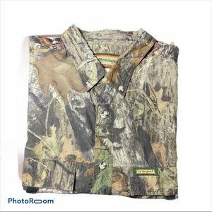 Remington Mossy Oak Vented Camo Shirt SZ 2XL EUC